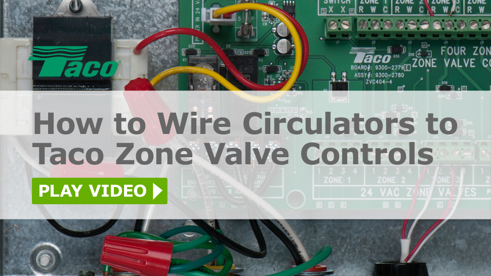 taco comfort solutions 3 Phase Motor Wiring Diagrams how to wire circulators to taco zone valve controls